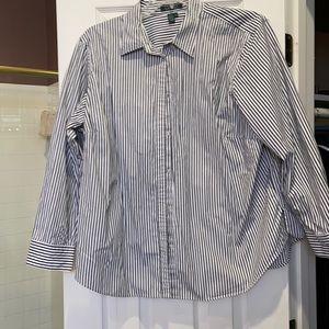 3x Ralph Lauren long sleeve black  and white shirt